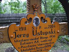 J. Ustupski's grave